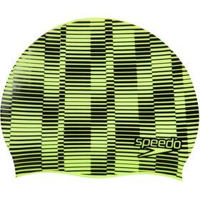 speedo Slogan Bonnet à motif Enfant, fluro yellow/black